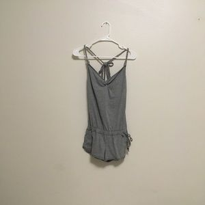 Abercrombie and Fitch grey crossback romper
